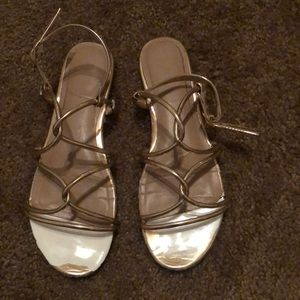 Rose gold sandals size  6.5